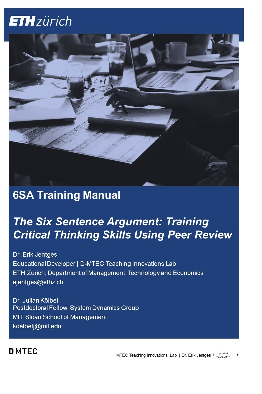Cover image for Testkurs Erik Jentges - nicht löschen: 6SA Training Manual